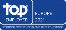 Siegel des Top Employers Institute: wir sind als Top Employers Europe zertifiziert